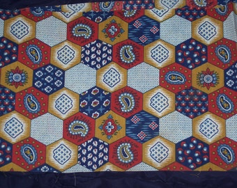 Funky fabric remnant,vintage,honeycomb pattern