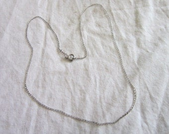 Vintage Sterling Silver 15 inch Necklace Chain