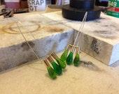 Green 3-Drop Earrings