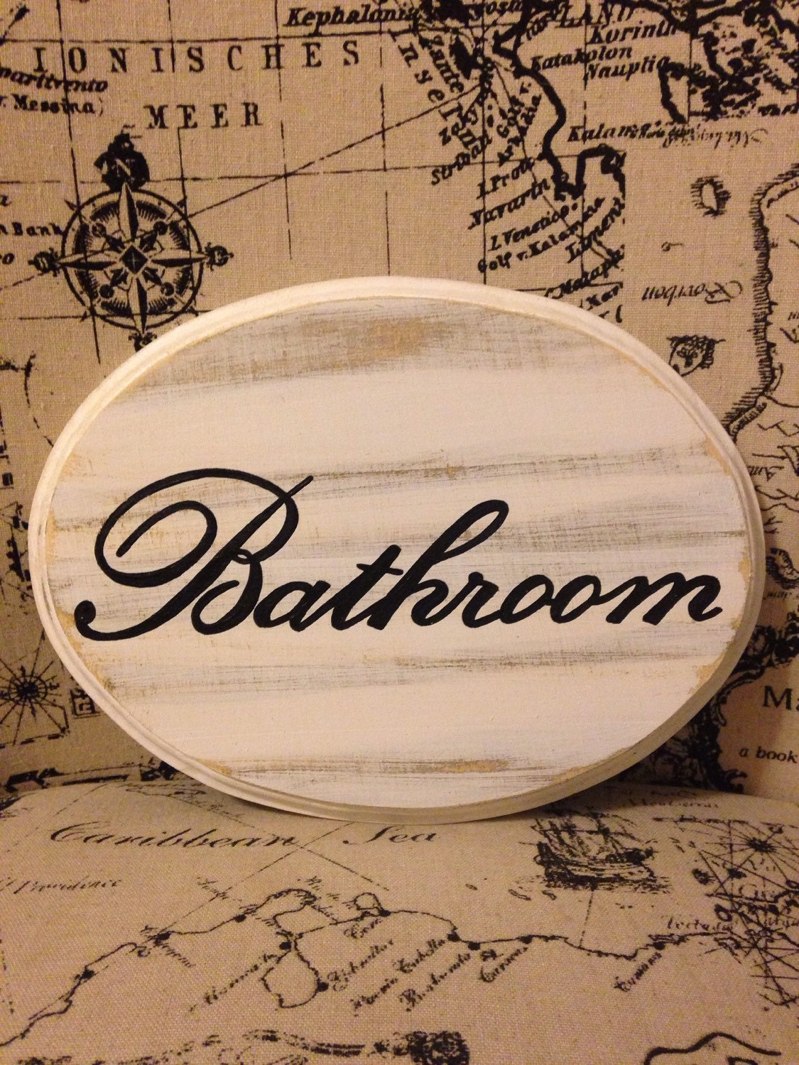 Adorable bathroom sign large white 7x9 for 7x9 bathroom designs