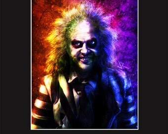Beetlejuice 11X14 Matted Print - Signed by Artist Joel Robinson