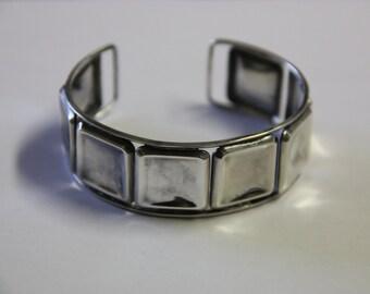 Vintage silver bracelet, designer Eric Granit, Finland. 1958. Adjustable size