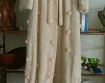 Vintage Mad Men Era 1960s Women's Custom Made Coat Size 10 combed Wool Hollywood Regency Glamorous Mid Century Modern Clothing
