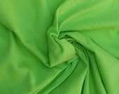 Organic Cotton Blend Jersey Knit Fabric LIME GREEN By the Yard - Eco Friendly