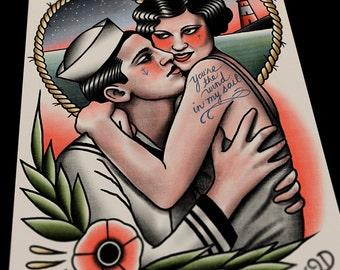 Wind In My Sail Tattoo Print