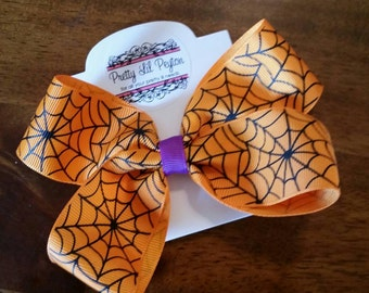 Halloween Spiderweb Hairbow