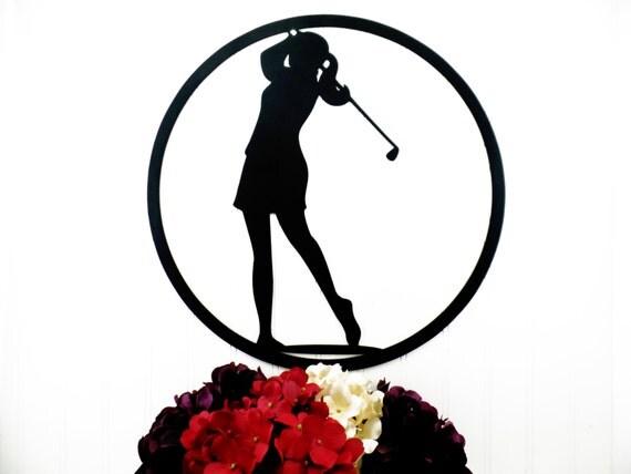 Metal Golf Wall Decor : Golf metal wall decor woman gift for her