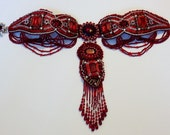 Red Crystal Collar - Reserved for Tonya Bauer
