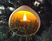 Primitive Gourd Lantern Ornament, Primitive Ornament, Christmas Ornament