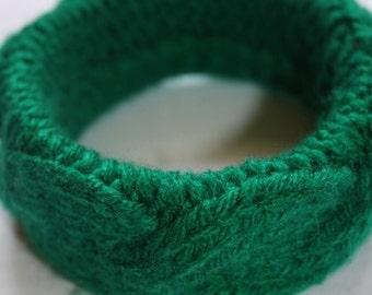 knitting bracelet, wełniak, wolly bracelet, knitting braid bracelet, warm bracelet,