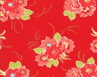 Miss Kate , Blossom, Red 55090 11 by Bonnie and Camille for Moda