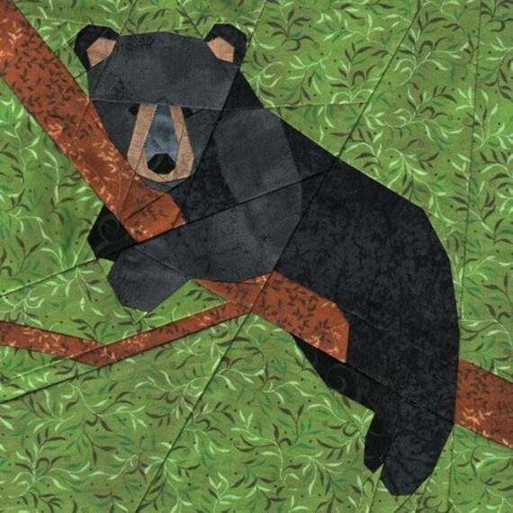 Bear Cub Paper Piecing