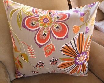 Big Sale !!! Floral Multicolor Pillow Cover 20x20