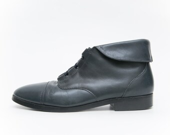 Vintage 1980s/1990s Prima Royale Leather Ankle Boots | Ladies Leather Ankle Boots |  Womens Vintage Boots | Size 6 1/2