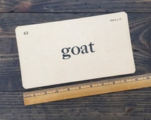goat • vintage flash card • Winston Reader word card • 1920's ephemera