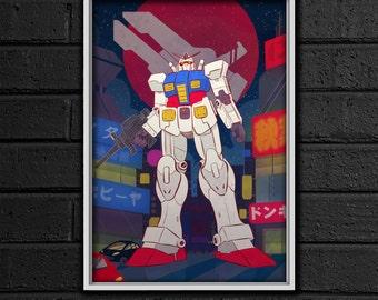 Gundam RX 78 Print