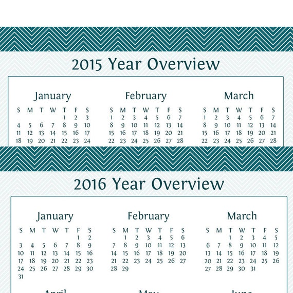 Year Calendar Overview : Items similar to year overview for yearly