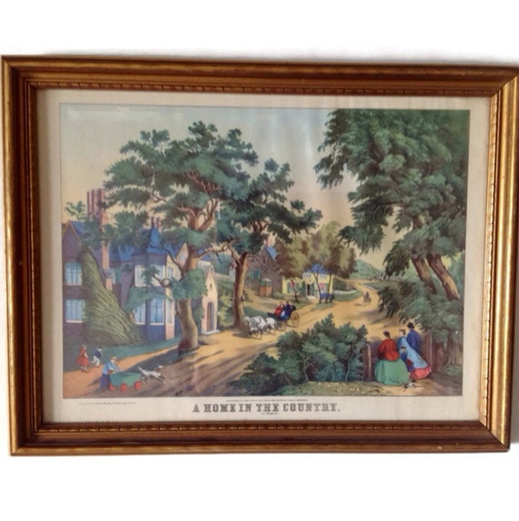 1800 S Colonial Scene On Demand: Antique Thomas Kelly Print A Home On The Country Summer
