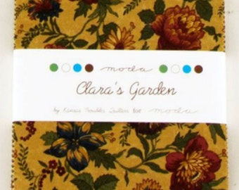 SALE!-Moda Clara's Garden Charm Pack by Kansas Troubles Quilters