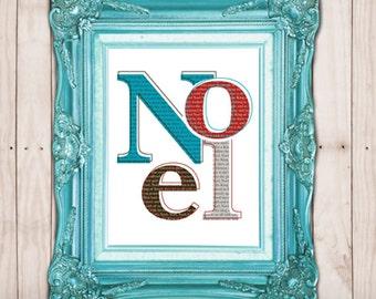 Noel Printable, Instant Download