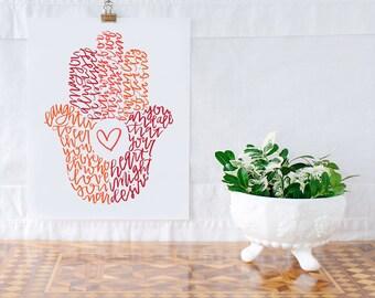 Hamsa Home Blessing Illustration