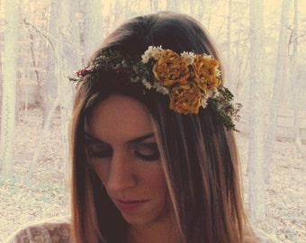 Bridal Hair Wreath / Flower Crown