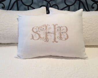 Custom made pillow sham