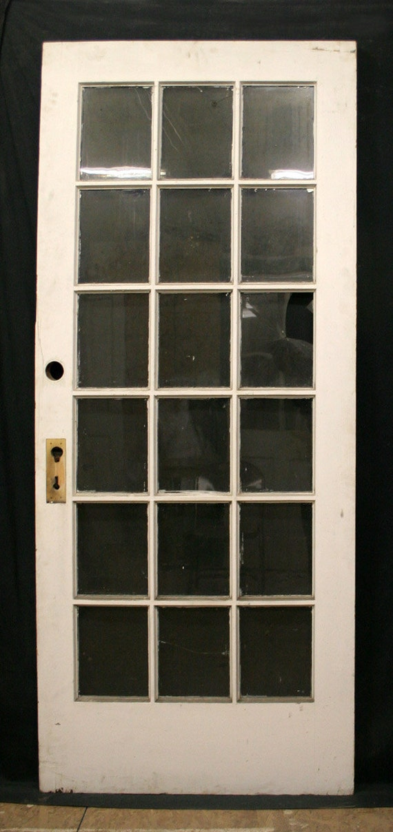36 x83 antique exterior chestnut french entry door 18 - Exterior glass panel french doors ...