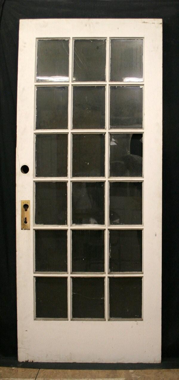 36x83 Antique Exterior Chestnut French Entry Door