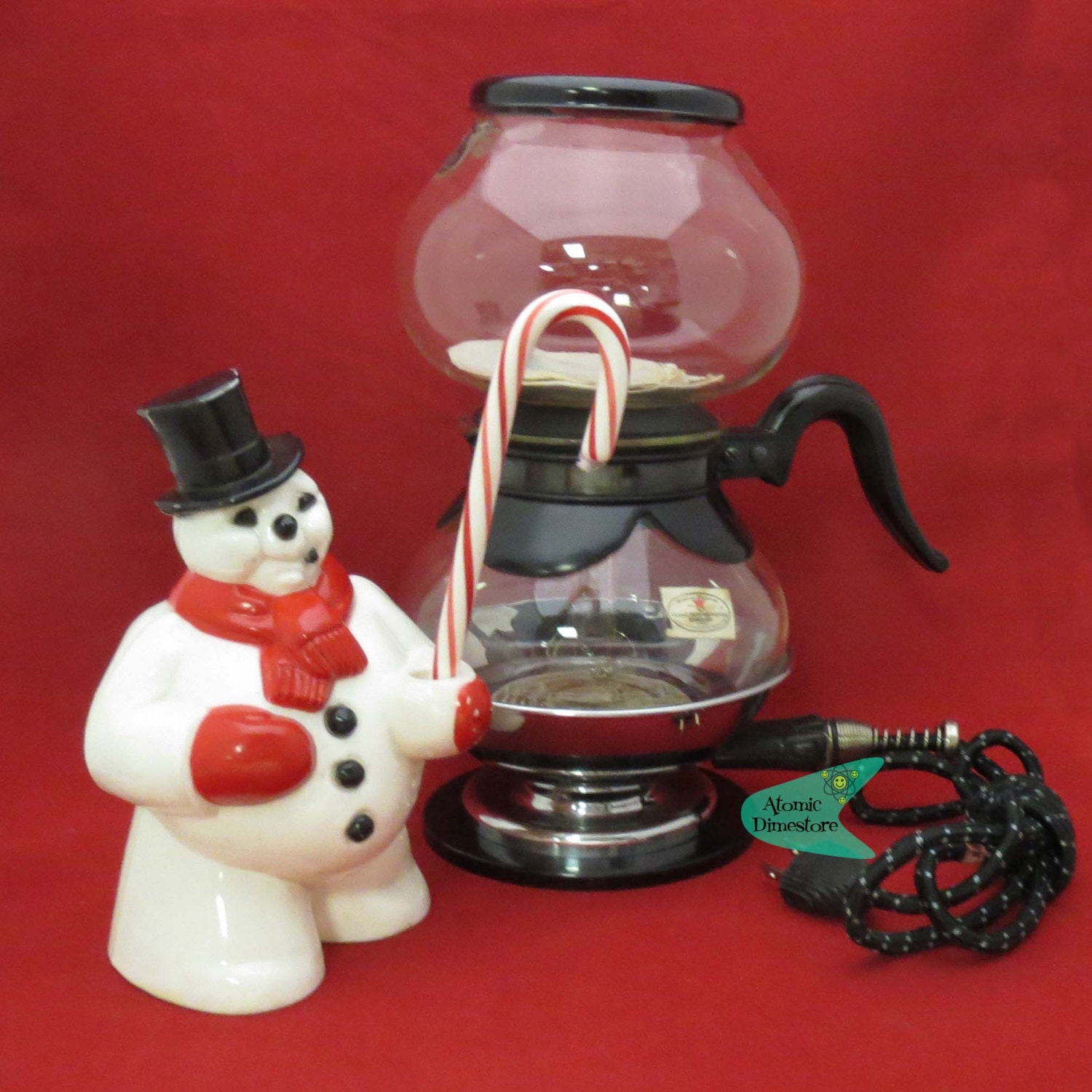 Vintage 1940s Silex vacuum coffee maker with Pyrex glass NOS