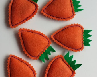 Kitty Carrots - Hand-Stitched Catnip Toys