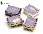 FLEX-i, Octagon Rhinestone Setting, Prong Setting, Violet Opal Resin Cabochon, Resin Rhinestones 14x10mm, Pkg of 1 pc, X0J9.RN19.P01