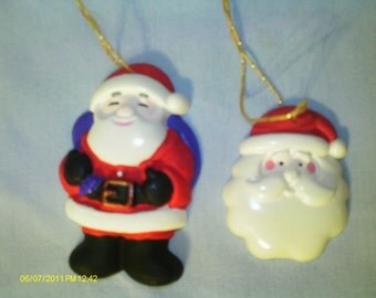 Santa Claus Ornaments (Red) - Set of 2