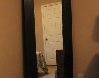 Large Floor Mirror Full Length Standing Mirror Leaning  Long Wall Mirror (Floor Mirror. Painted Black) FREE SHIPPING
