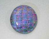 32x35mm Dichroic Glass Cabochons - Lavender Magenta/Emerald Special Color - TR255
