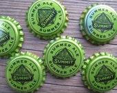 Lime Green Craft Beer Magnets - Half Dozen - Minnesota Bottle Cap Magnets - Man Cave Stuff - Gift for Guys - Beer Art - Bar Decorations