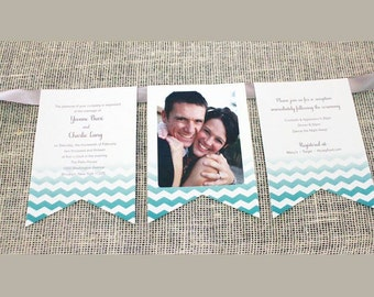 Banner Wedding Invitations // Pennant Flags // DEPOSIT to GET STARTED