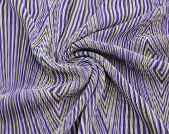 Electro Lilac Yellow Pleated Knit Fabric - 1 Yard Style 8001