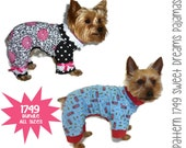 Sweet Dreams Dog Pajama Pattern 1749 * Bundle All Sizes * Dog Clothes Sewing Pattern * Dog Onesie Pattern * Dog PJs * Dog Attire
