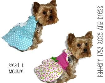 Rose Ana Dog Dress Pattern 1752 * Small & Medium * Dog Clothes Sewing Pattern * Dog Clothing * Dog Attire * Dog Apparel * Pet Clothing