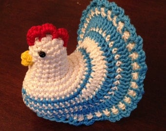 Crochet Pattern Decoration Easter Chicken - Eggs cover