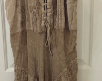 Vintage 1980 Boho Peasant dress