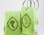 "Two (2) Legend of Zelda ""His and Her"" Inspired - Embroidered Hand Towels Set"