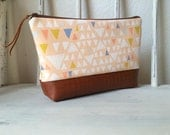 Zippered Pouch in Triangles