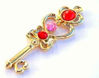 Sailor Moon R Time Key Crystals Chibiusa Chibimoon Pluto Rini Cos Play Prop