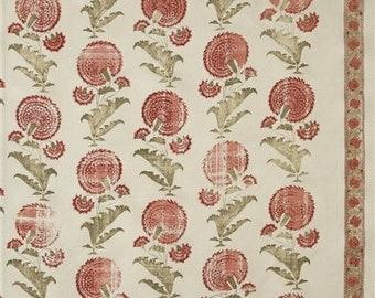 "Michael Smith for Jasper Fabrics ""Indian Flower"" Fabric Drapery Panels"