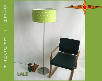 Floor lamp green LALE  lime green floorlamp with dots