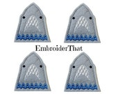 UNCUT Exclusive EmbroiderThat Shark JAWS Face felt applique embellishment feltie hair bow center (4)