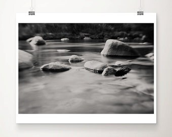 Kern river photograph black and white photography rocks photograph nature photography Kern river print California photograph