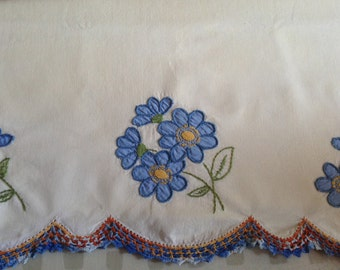 Applique Pillow Cases in a beautiful blue color